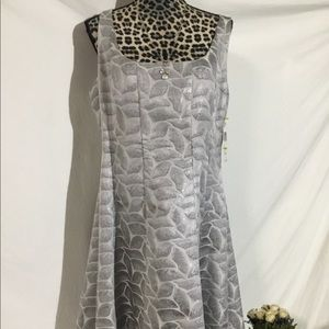 Evan Picone Sheath Dress silver Size 14